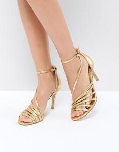 Туфли на каблуке с ремешками Free People - Золотой