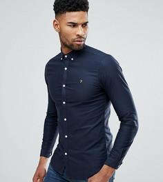 Темно-синяя приталенная оксфордская рубашка на пуговицах Farah TALL - Темно-синий