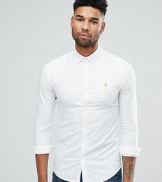 Белая приталенная оксфордская рубашка на пуговицах Farah TALL - Белый