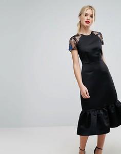 Декорированное платье-футляр Closet London Premium - Черный