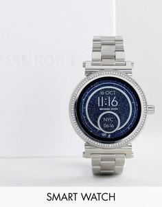 Серебристые смарт-часы Michael Kors Access MKT5020 Sofie - Серебряный 433df5f2941fe