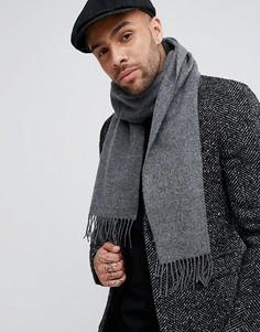 Шерстяной шарф Glen Lossie - Серый