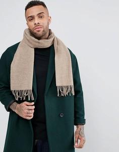 Шерстяной шарф Glen Lossie - Бежевый