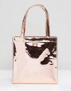 Маленькая сумка с зеркальным эффектом Ted Baker - Золотой