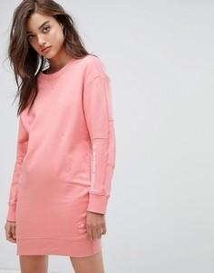 Трикотажное платье с логотипом G-star - Розовый