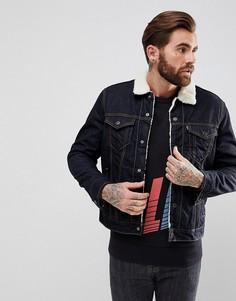 Джинсовая куртка с воротником и подкладкой из искусственного меха Levis Trucker Raw Power - Синий Levis®