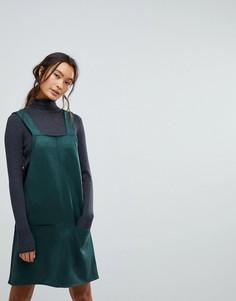 Платье из искусственной замши New Look - Зеленый