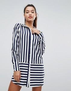 Платье-рубашка в полоску Boohoo - Мульти