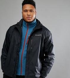 Черная непромокаемая куртка с капюшоном Columbia PLUS Pouring Adventure II - Черный