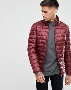Бордовая дутая куртка River Island - Красный