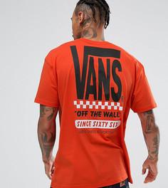 Оранжевая футболка с принтом на спине Vans эксклюзивно для ASOS - Оранжевый