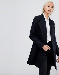 Шерстяное пальто Selected - Черный