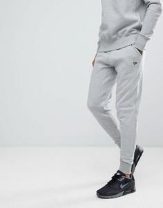 Премиум-джоггеры с маленьким логотипом New Era - Серый