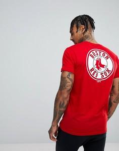 Футболка с принтом на спине New Era Boston Red Sox - Красный