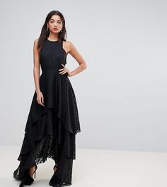 Ярусное платье макси Y.A.S Tall - Черный