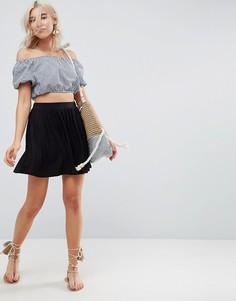 Короткая расклешенная юбка ASOS - Черный