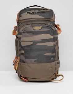 Рюкзак объемом 20 л с камуфляжным принтом Dakine Heli Pro - Зеленый