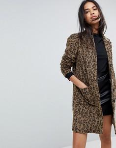 Пальто с леопардовым принтом Y.A.S - Мульти