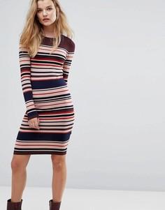 Трикотажное платье в полоску Y.A.S - Мульти