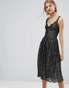 Кружевное платье миди Y.A.S - Мульти