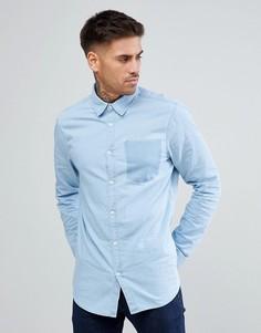 Выбеленная джинсовая рубашка с отделкой в виде кармана New Look - Синий