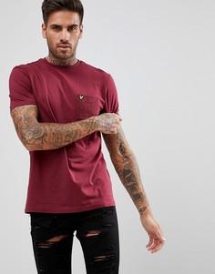 Бордовая футболка с карманом в крапинку Lyle & Scott - Красный