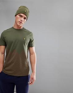 Зеленая футболка с принтом Lyle & Scott Fitness - Зеленый