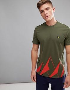 Зеленая футболка с принтом Lyle & Scott Fitness Douglas - Зеленый