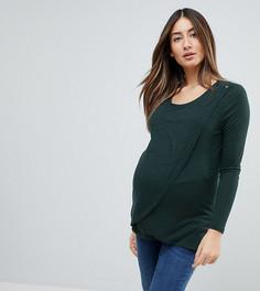 Топ с запахом для кормящих мам New Look Maternity - Зеленый