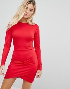 Облегающее платье с запахом на юбке Daisy Street - Красный