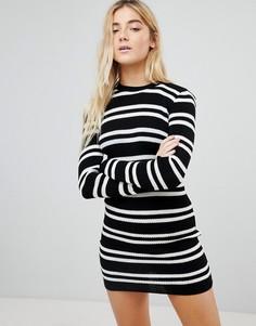 Платье-джемпер в полоску Daisy Street - Черный