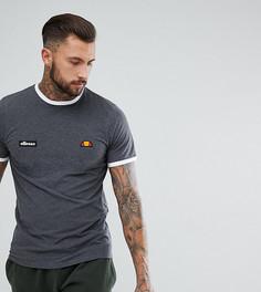 Серая футболка с логотипом Ellesse - Черный