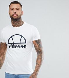 Белая длинная облегающая футболка с логотипом Ellesse - Белый