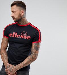 Черная футболка с полосками на рукавах Ellesse - Черный