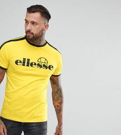 Желтая футболка с рукавами в полоску Ellesse - Желтый