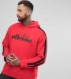 Красный оверсайз-худи с полосками на рукавах Ellesse - Красный