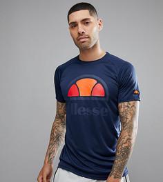 Темно-синяя футболка с логотипом Ellesse - Темно-синий