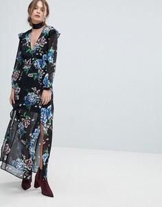 Платье с цветочным принтом Miss Selfridge - Мульти