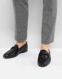 Черные кожаные лоферы H London Renzo - Черный