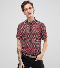 Рубашка классического кроя с принтом и короткими рукавами Reclaimed Vintage Inspired - Черный