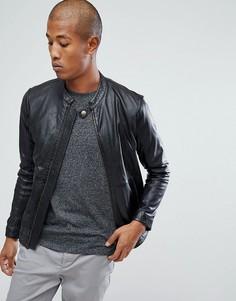 Черная кожаная куртка Lindbergh - Черный