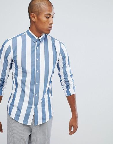 Синяя рубашка в полоску Lindbergh - Синий