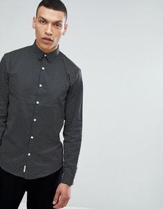 Черная рубашка со сплошным принтом Lindbergh - Черный