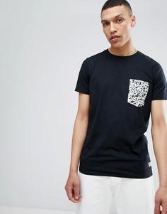 Черная футболка с контрастным карманом Lindbergh - Черный