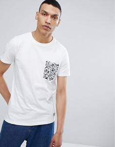 Белая футболка с контрастным карманом Lindbergh - Белый