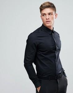 Черная облегающая рубашка Burton Menswear - Черный