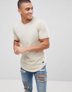 Длинная футболка с асимметричным краем Only & Sons - Серый