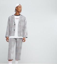 Свободные укороченные брюки в клетку Reclaimed Vintage Inspired - Серый