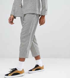 Укороченные брюки в клетку Reclaimed Vintage Inspired - Коричневый