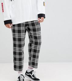 Черные брюки свободного кроя в клетку Reclaimed Vintage Inspired - Черный